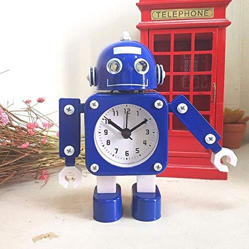 ANCLOK Creatieve Kinderen Cartoon Robot Alarm Klokken Student Persoonlijke Mute Metaal Maken Tafel Alarm Klokken Kinderen