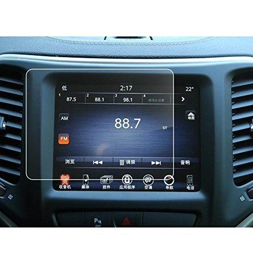LFOTPP Jeep Compass Uconnect 8,4 Pollici Navigazione Pellicola Protettiva in Vetro Temperato Screen Protector Film - 9H Antigraffio HD Alta Trasparente