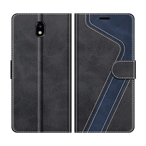 MOBESV Funda para Samsung Galaxy J3 2017, Funda Libro Samsung J3 2017, Funda Móvil Samsung Galaxy J3 2017 Magnético Carcasa para Samsung Galaxy J3 2017 Funda con Tapa, Elegante Negro