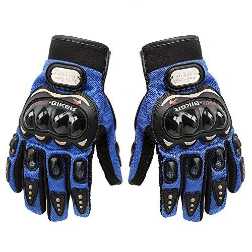 """SunFlower, kurze Motorradhandschuhe """"Pro-Biker"""" aus Leder XL blau"""