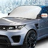 SANWATEC Frontscheibenabdeckung Auto, frostschutz Auto frontscheibe Eisschutzfolie Scheibenabdeckung Auto Faltbar gegen Schnee, Sonne, Staub, Frost , Wind mit Spiegelabdeckung