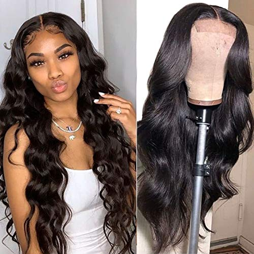 Baluiki4x4 Lace Closure Wigs Body Wave Lace Front Wigs Human Hair With Baby Hair 150% Density Body Wave Wigs For Black Women Natural Color(14inch,body wave)