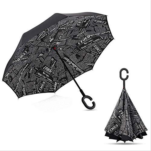 Paraguas Cielo Estrellado Anti-ultravioleta Paraguas Invertido Paraguas Doble Plegable A Prueba De...