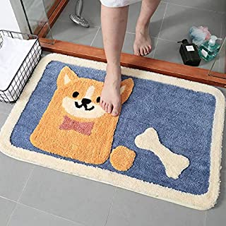 Flocking Carpet Floor Mat Home Toilet Door Bathroom Anti-skid Pad Absorbent Foot Pad