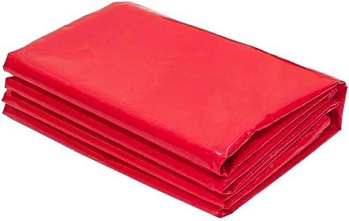 Bache YNN Tissu imperméable en Plastique de PVC de 180g   m2 imperméable à l'eau Tissu imperméable Rouge de Tissu étanche (Couleur   rouge, Taille   6  6m)