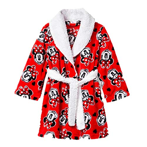 Disney Boys Girls Mickey Mouse Minnie Mouse Hooded Robe Minnie Mouse 4t 5t Brickseek