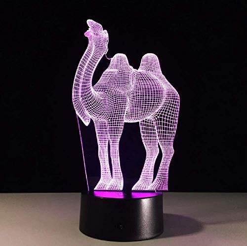 Creativo Camel 3D Altavoz Bluetooth Luz De Noche Lámpara De Mesa Touch Acrílico Usb Hogar Dormitorio Decoración Regalo
