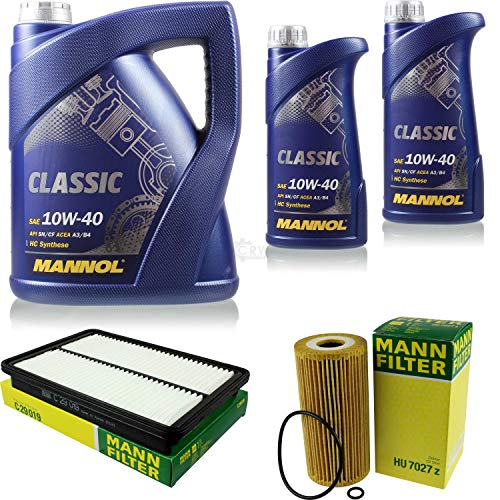 Motor-Öl 7L MANNOL Classic 10W-40+MANN-FILTER Filterpaket KIA Sorento II XM