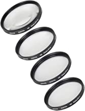 Bower Digital Macro Filter Kit 58mm +1 +2 +4 Close Up Lenses with Lens Cap & Cap-Keeper - For Canon, Nikon, Olympus, Pentax & Sony Lenses with 58mm Filter Size