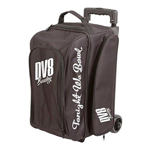 DV8 Freestyle Bowlingtasche mit Zwei Rollen, Schwarz