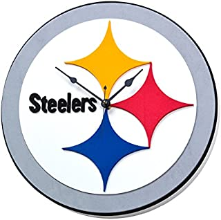 NFL Pittsburgh Steelers 3D Foam Wall Clock