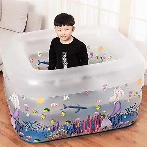 LSWY Piscina Inflable, bañera Plegable/para niños Pequeña Bomba Piscina, Piscina para niños Piscina Interior y al Aire Libre Doble Games de Agua Centro para niños/niñas/niños