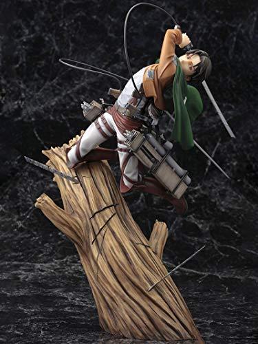 Attack On Titan Action Figures 25Cm, Levi Eren, Cartoon Doll Pvc Box-Packed Figure Action Figure Collection Modello Figure