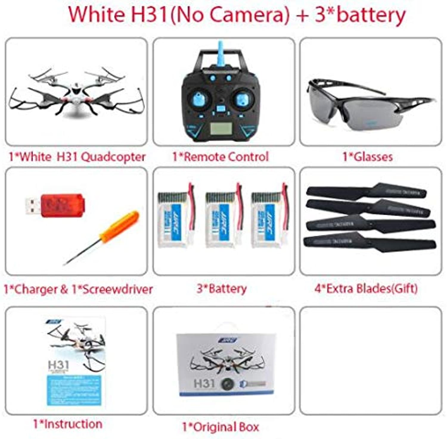 Generic Increase Price Next Month JJRC H31 Waterproof 2.4g RC Drone Helicopter Quadcopter with WiFi HD Camera V syma x5sw x5uw White h31 NO 3b Box