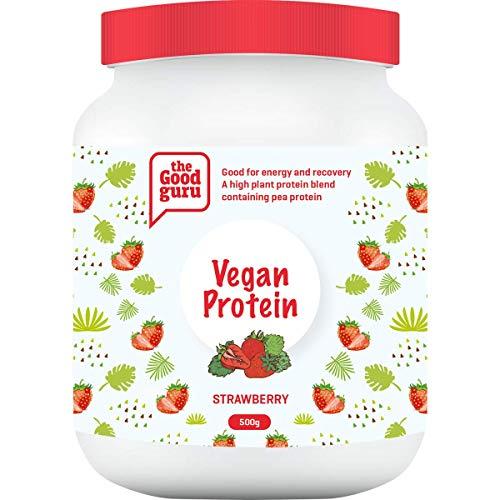 The Good Guru Vegan Protein Powder Blend | Contains Organic Turmeric | Organic Pea Protein Powder | Lactose Free | Dairy Free Shake in Vanilla, Strawberry, Wild Berries & Coconut (Vanilla)