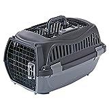 ペティオ (Petio) 2ドア スマイルキャリー ブラック ペット用 S サイズ