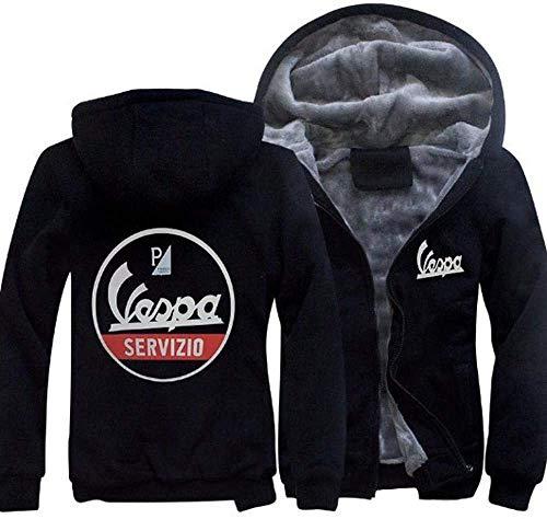 SUSU Hoodie Servizio Vespa New Hoodie Warm Hoodie Zipper-Jacke Hoodie Unisex B-S
