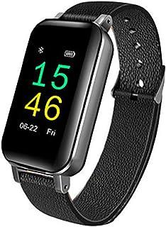 Rastreador de Ejercicios con Auriculares, Pantalla a Color IP67 Impermeable Reloj Inteligente, Reloj Pulsómetro Monitor de Sueño Podómetro Bluetooth, Llamar SMS SNS Recordar