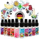 Riccardo E-Liquid Red Dragon Fruchtset 10x10 ml, e Liquid Set für e-Zigarette, 50 % PG / 50 % VG, 0...