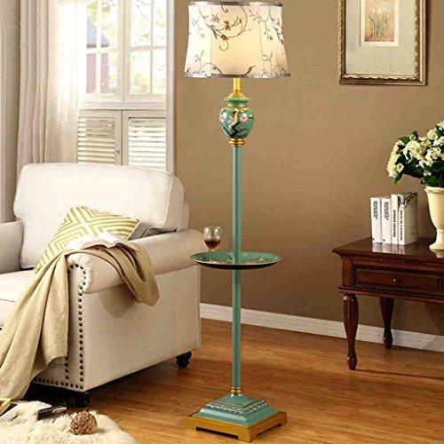 XIN Home staande lamp, staande lezing, creatieve Europese stijl vloerlamp woonkamer luxe Villa in Amerikaanse stijl retro salontafel staande lamp studie eenvoudige moderne bruiloft lampen oogsc groen