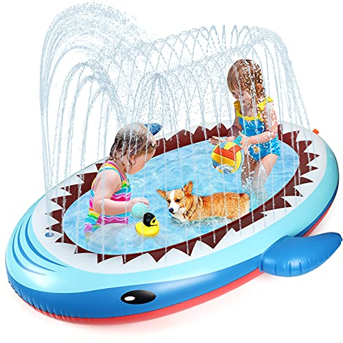 【令和最新版】Chamsaler プール ファミリープール 大型ファミリープール 家庭用スイミング 充気プール ビニール 子供プール 子供用 子供4人分 水遊び ずあそび 芝生遊び 水上ボールゲーム 庭用  滑ること防止 夏対応 熱対策  夏の日 1.7M