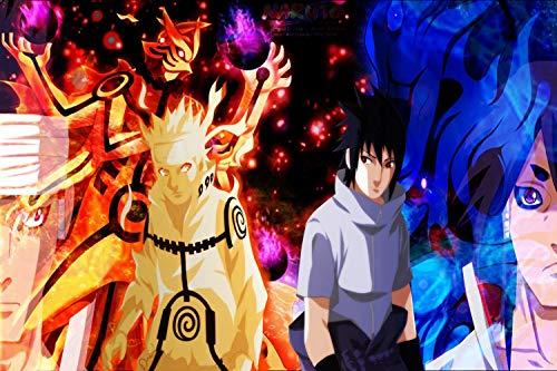 Anime Puzzle Naruto DIY 1000 Pieza Animación Adulto Puzzles de Madera descompresión Alto Dificultad Juguetes Niños Juegos Familiares Regalos Puzzle (Style : F)