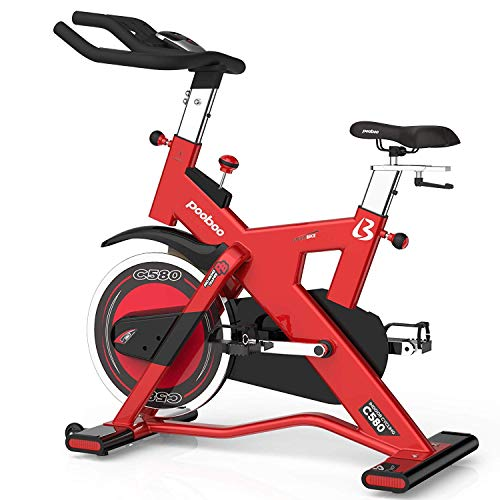 L NOW Exercise Bike Pro Indoor Cycling Bike Smooth Belt Driven and 40lb flywheel-Commercial Standard