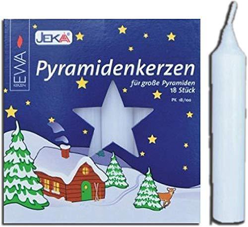 JEKA Pyramid Kerzen, Wachs,,, Wachs, weiß, 1.8 x 1.8 x 10.5 cm