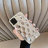 LIMITED Funda de teléfono Desigual de Oro Rosa para iPhone 11 Pro MAX X XR XS MAX 8 7 6 6s Plus Funda de Silicona Suave de TPU para iPhone 11 para iPhone XR Plata