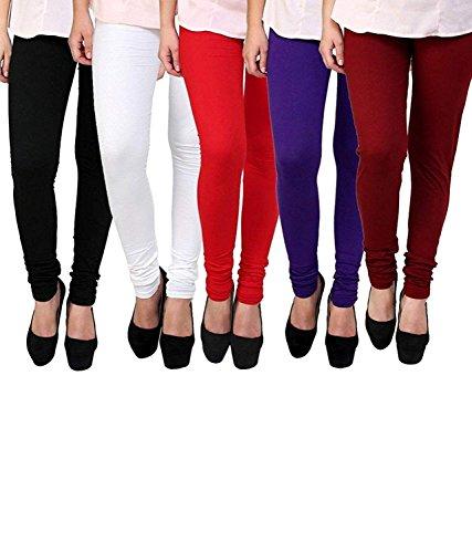 Century 21 Women's Polycotton/Viscose Leggings (Multicolour, XL)
