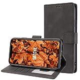 EATCYE Hülle für Huawei P30,Handyhülle für Huawei P30,Ultra Dünn Elegant Brieftasche PU Leder Flip Case Magnetverschluss Handytasche Klapphülle Anti-Kratzschutz Schutzhüllen (Schwarz)