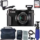 Canon PowerShot G7 X Mark II Digital Camera with 64 GB Card + LED Compact On-Camera Light + Premium Camera Case + 2 Batteries + Tripod