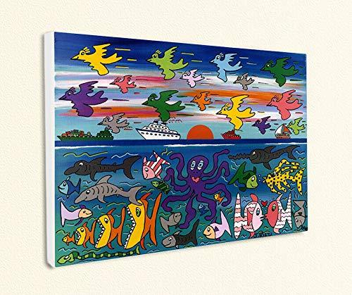 Kunstdruck Heading South Kreuzfahrt Tintenfisch Popart Poster Rizzi Platte 22