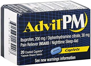 Advil PM Pain Reliever with Sleep Aids 20's Pack of 2 (40 Count)