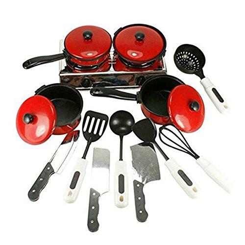 PIXNOR Enfants Maison Cuisine Jeu D'imitation Batterie Cuisine