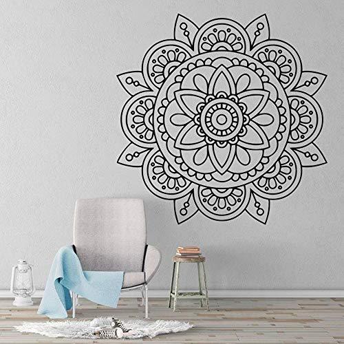 Mandala cabecera pegatina de pared calcomanía decorativa decoración de sala de estar arte extraíble papel autoadhesivo A1 57x57cm