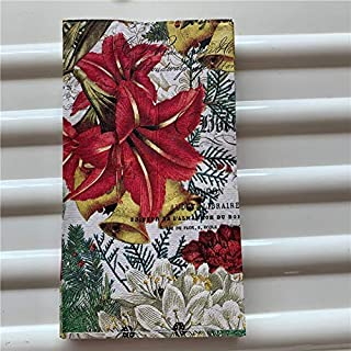 HXQCZ 15 decoupage wedding vintage napkins paper elegant tissue bird yellow red flower craft birthday party serviettes dec...