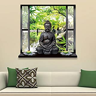1PC 3D Lovely Removable Simulation Buddha Landscape Home Bedroom Wall Stickers Art Kids Room Decoration 50x70cm