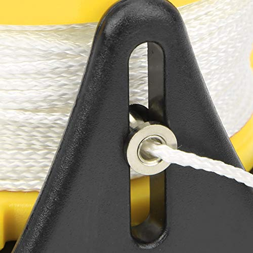 01 Carrete de Buceo de 150 pies, Carrete de Buceo portátil, Carrete de línea de Buceo Multiusos, Rueda de línea de Buceo para Kayak(Yellow)