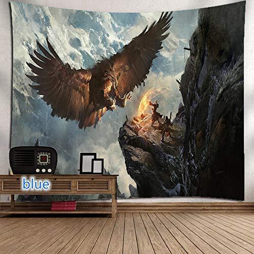 WERT Flying Eagle Tapiz de impresión Digital 3D decoración del hogar Tapiz de Tela de Fondo para Colgar en la Pared A4 150x200cm