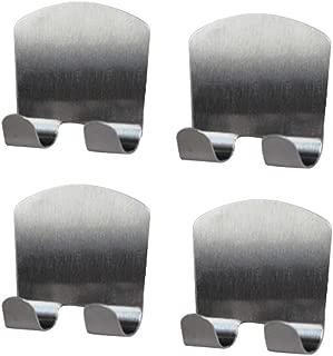 ROOS Set of 4 Stainless Steel Multi Purpose Sticking Hook ,Shaving Razor,Plug Hook,Towel Hook (Small)