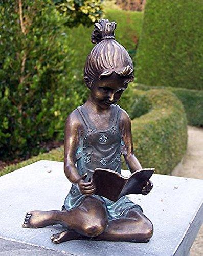 pompidu-living Lesendes Mädchen, Bronzefigur