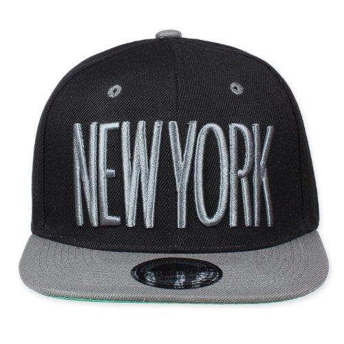 Original Snapback - Gorra de béisbol - para hombre New York Schwarz/Grau...