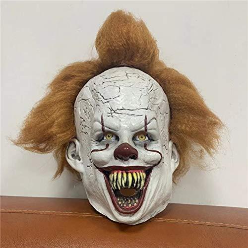 2019Joker Pennywise Mask Stephen King Es Kapitel Zwei 2 Horror Clown Cosplay Latex Masken mit Perücke Halloween Party RequisitenB