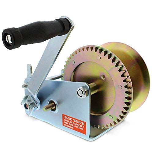 ABN Handseilwinde Kurbel Getriebe Seilwinde Heavy Duty bis zu 1134 kg für Anhänger, Boot oder ATV