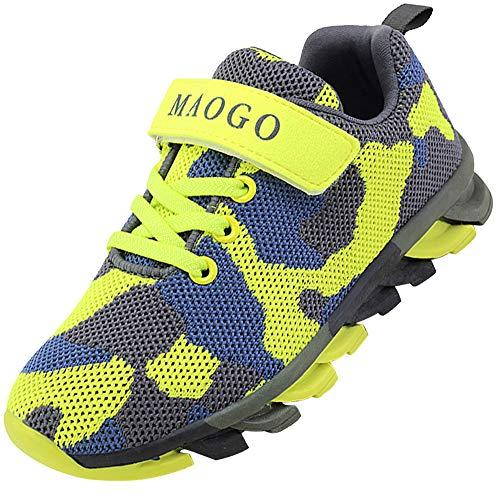 MAOGO - Zapatillas de deporte para niño, transpirables, diseño de camuflaje, color, talla 33 EU
