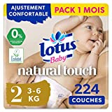 Lotus Baby Touch - Pack 1 mois (224 couches)