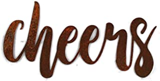 Naturally Rusted Steel Word Art - Cheers (Small)
