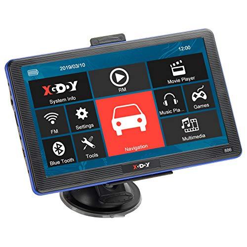 SC ) Xgody 560/Bluetooth portatile auto navigatore satellitare GPS Navigation 12,7/cm touch screen incorporato 128/MB RAM 8/Gb FM MP3/MP4/Lifetime Map veicolo Navigator con parasole ( 560BT