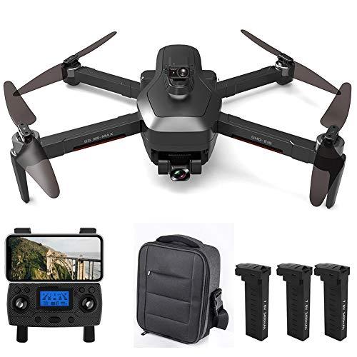 GPS Drone con cámara 4K HD, 5G WiFi FPV RC Quadcopter Plegable con Regreso automático a casa, Sígueme, Tap Fly, Control de Gestos, Modo MV, Vuelo de 26 Minutos, 3 Baterías